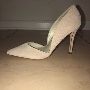 Blush Colored Suede BCBG Heels Size 8